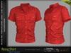 RENG Male Shirt RED COLOR - MESH - Slink, Signature Gianni + Geralt, Aesthetic, Belleza Jake - FashionNatic