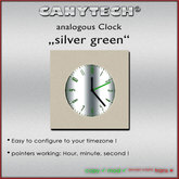 Canytech Clockworks - analog SilverGreen