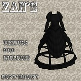 Zan's Cage dress (dark) experimental fitmesh, belleza and Maitreya