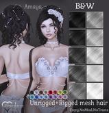 {Limerence} Amaya hair-B&W