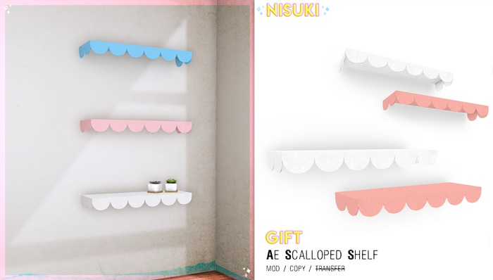 Nisuki - Ae Scallioped Shelf Promo Gift