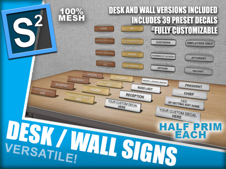 S2 S2 Desk/Wall Signs v1.0 BOXED