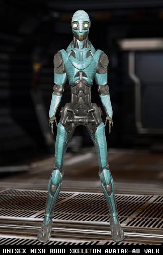 [Nivana Fashion] - Unisex Mesh Robot Avatar - Android Avatar - Halloween Avatar