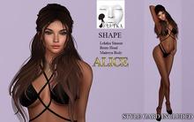 ALICE - Shape for Lelutka Bento Head - Simone - Maitreya Lara Body. STYLE CARD INCLUDED