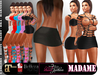 Mesh Outfit MADAME _ 5 Textured_ Bra Harness Skirt Boots