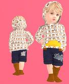 Lexxie TOTSiPOP Baby hoodie puppies