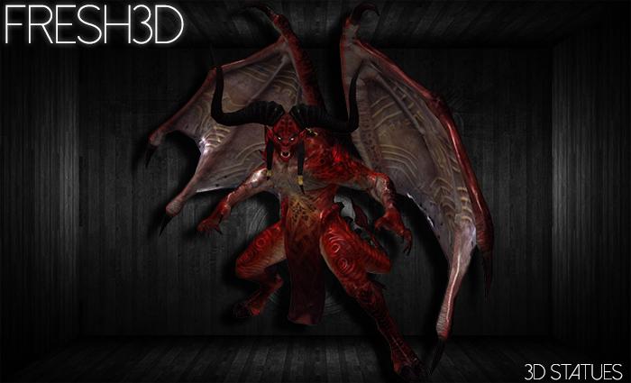 Fresh3D Demon STATUE