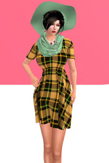 Lexxie Maitreya Pregnant Dress Plaid