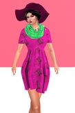 Lexxie Maitreya pregnant dress red