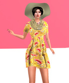 Lexxie Maitreya pregnant dress yellow
