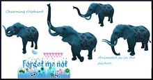 F.G.M.N/Blue Fantasy Carnival Elephant with sound
