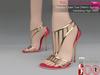 Full Perm Strappy Open Toe Stiletto Sandal Wedding High Heels Slink High, Maitreya High
