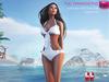 Full Perm White One Piece Swimsuit With Frills Trim - Slink, Maitreya, Belleza,  Ocacin Voluptuous