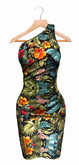 The Annex - Kalani Dress - Multi - Fitmesh, Physique, Lara, Belleza