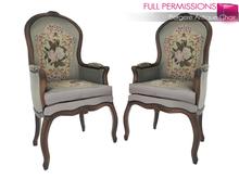 Full Perm Mesh Bergere Antique Chair 1LI