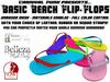*Carnival Punk* Basic Beach Leather Custom Color Flip Flops