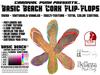 *Carnival Punk* Basic Beach Cork Custom Color Flip Flops