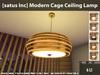 [satus Inc] Modern Cage Ceiling Lamp