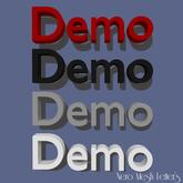 Mesh Letters - Demo (1 prim high LOD)