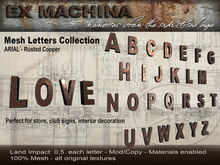 Ex Machina -  Metal Letters - ARIAL