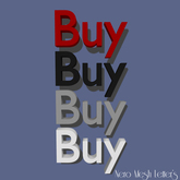 Mesh Letters - Buy (1 prim high LOD)