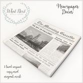 {what next} Camber Newspaper Decor