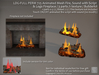 LDG-FULL PERM 725 Animated Mesh Fire, Sound with Script & Logs Fireplace / Touch ON-OFF / 3 parts /Builderkit