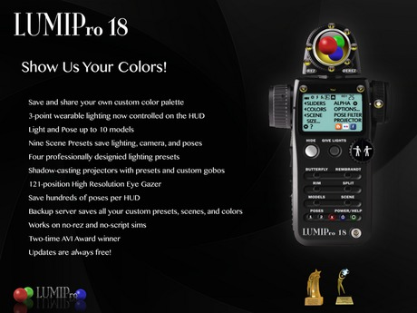 LUMIPro - Professional Photography, Studio, Machinima, and In World Lighting HUD