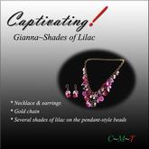 Captivating! Gianna-shades of lilac