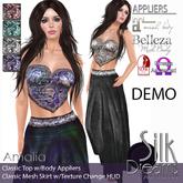 Silk Dreams Amalia (Mesh) Long Skirt & Classic Top w/Appl DEMO