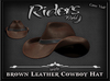 Riders Brown Leather Cowboy Hat
