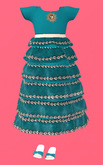 Lexxie ToddleeDoo Kid Dress Teal