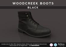 {COLD-ASH} Mens MESH WOODCREEK BOOTS (SingleColor-BLACK)
