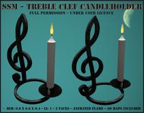 SSM - Treble Clef Candleholder