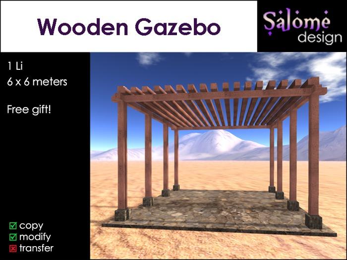 Wooden Gazebo - Salome design - free gift sales box