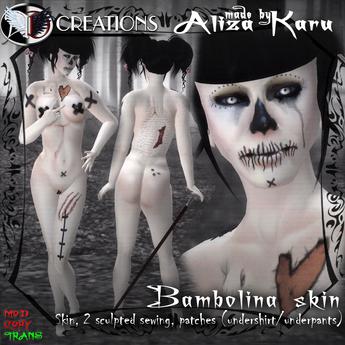 [DEMO] bambolina skin - dead doll, 450