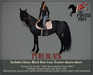 The Painted Pony~ Pure Black Coat, for *WH* Riding horse