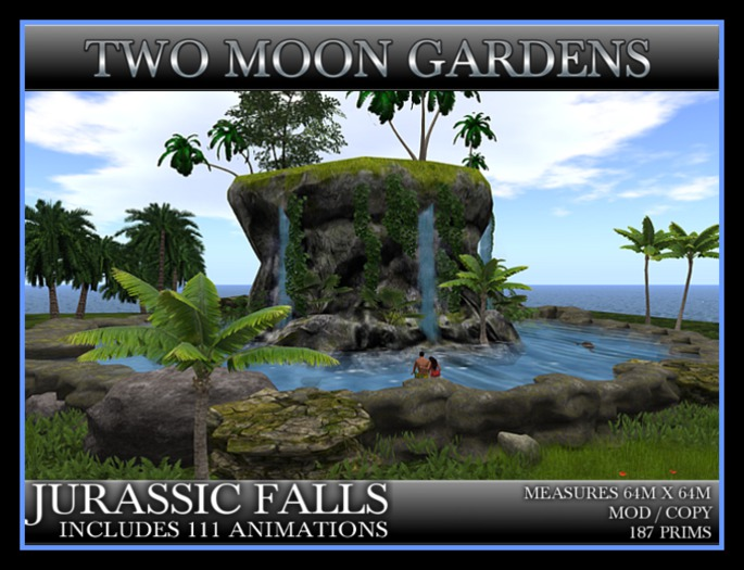 TMG - JURASSIC FALLS* Landscape Jungle waterfall build with 111 animations.