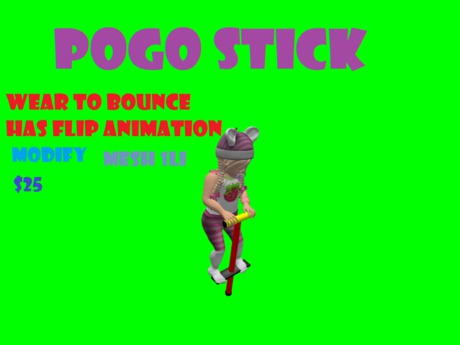 Pogo Stick With Flip Animation Toddler Size