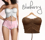 Blueberry - Vicky - Ruffle Top - Tan