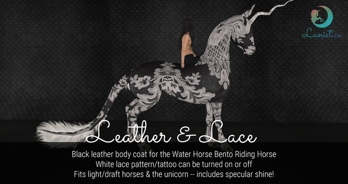 Lunistice: Leather & Lace - Water Horse Body Coat