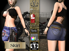 V-Twins Biker Clothes - Individual Items Mesh Skirt - Flare Collection (Slink Belleza & Maitreya)