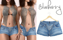Blueberry - Helena - Front Tied Shorts - Blue