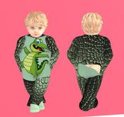 Lexxie TOTSiPOP Onsie Crocodile infant