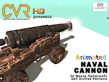 Animated-rigged Naval Cannon