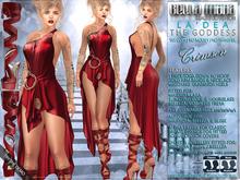 Bella Moda: La Dea Crimson Goddess Outfit