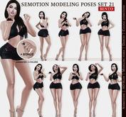 SEmotion Female Bento Modeling poses Set 21 - 10 static poses
