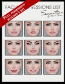 SEmotion Female Bento Facial Devil Expressions Set - 9 facial animations Builder's Kit / Full Permission