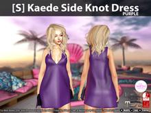 [S] Kaede Side Knot Dress Purple
