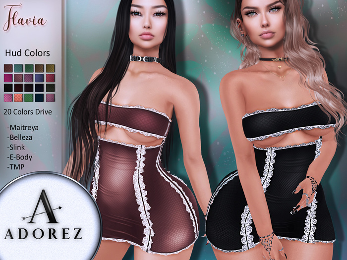 AdoreZ-Flavia Dress  Hud 20 Colors